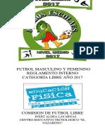 Bases Jde Municipal Futbol-libre Mas. y Fem. Nivel Medio 2017