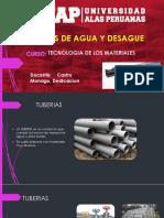 Tuberías de agua y desagüe - Tecnología de materiales