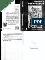 Compendio de Analisis Institucional