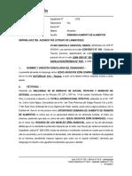 Expediente N° 115 - 2019 - Aumento de Alimentos - Vivian Marisela Sandoval Ramos