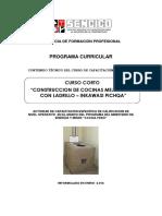 PC Construccion de Cocina Mejorada Con Ladrillo - Inkawasi Pichqa