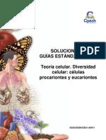(5)2014 Solucionario Guía Teoría Celular. Diversidad Celular Células Procariontes y Eucariontes