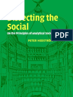 Hedstrom - Dissecting the Social ~ on the Principles of Analytical Sociology