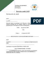 Declaración de Salud Travesía 2019 Autorización