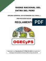 REGLAMENTO DE LA OFICINA GENERAL DE EXTENSIÓN CULTURAL Y PROYECCIÓN SOCIAL DE LA UNIVERSIDAD NACIONAL DEL CENTRO DEL PERÚ
