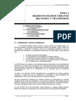 Residuos Solidos Urbanos Recogida y Transporte Ingenieria Sanitaria y Ambiental