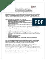employment coordinator job ad llfc cwcl  1