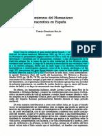 Los Comienzo Del Humanismo Renacentista GONZALEZ ROLAN Notas