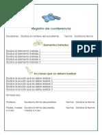 Registro de Conferencia