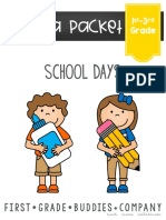 Back to School Reading Comprehension Packet