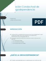 Evaluación Conductual de Las Drogadependencia