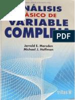 Análisis Básico De Variable Compleja - Jerrold E. Marsden & Michael J. Hoffman_.pdf