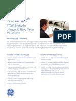 Ge Transport Pt900 Flow Meter User Manual 910-315a-Spc
