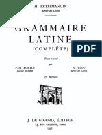 Grammaire latine complète