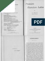 Premiers exercices latins. Livre du maître.