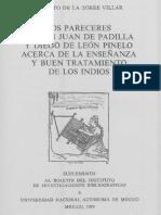 PARECERES DE JUAN PADILLA E LEON PINELO SOBRE INDIOS.pdf