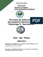 Proyecto Arroyo La Tapera Una Practica Profesional Solidaria 2013