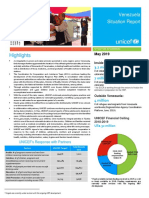 UNICEF Venezuela Humanitarian Situation Report May 2019