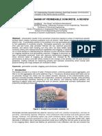 Clogging Mechanism of Permeable Concrete a Review