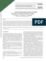 Análisis Tridimensional de La Capacidad de Carga de Cimientos Poco Profundos Utilizando El Método de Elementos Discretos