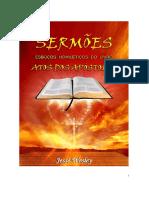 Livro Sermões Atos Dos Apostolos. Jessé Wesley