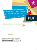 componentes de reglamento de redes de telecomunicaciones