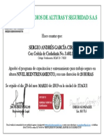 Certificado Alturas Sergio