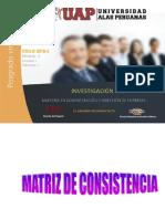 Semana 7 Matriz Operacional y Matriz Consistencia