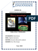 etica y la tecnologia