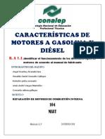 Características de Motores a Gasolina y Diésel