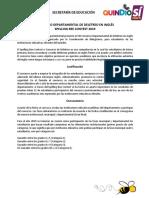 Concurso Departamental de Deletreo en Inglés 2019