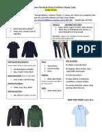 middletown christian school uniform dress code 2019