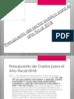 PRESUPUESTO 2018
