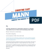 Dr. Christine Mann for Congress - TX-31 - Disgusting - That's What National Republicans Just Called Me