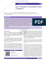 Principles and Methods of Preparation of Platelet-Rich Plasma - A Review and Author's Perspective