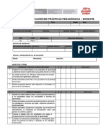 Ficha Prácticas Pedagógicas -Docente
