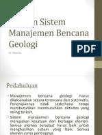 Elemen Sistem Manajemen Bencana Geologi