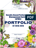 Rpms Cover Page Master Teacher