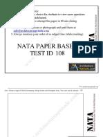Free NATA 2019 Sample Paper Download in PDF Set 8