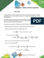 Cálculo Cantidad de Lodos y Diseño Digestor Anaeróbio