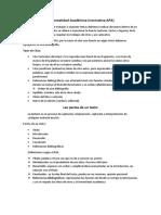 Manual APA y Escritura Texto