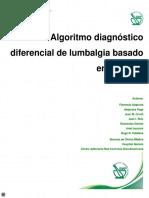 Algoritmo diagnóstico de lumbalgia basada en pruebas