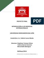 Introducción a Los Negocios-proyecto-final India