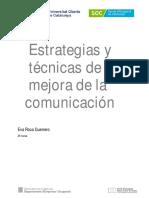 Estrategias y Técnicas de Mejora de La Comunicación