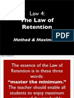Bruce Wilkinson 7 Laws of the Learner Law 4_b Retention Maximisers