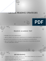 Critical Reading Strategies