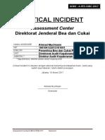 Critical Incident a Pe5 Djbc 2017 Ahmad Muchlasin