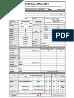 Personal Data Sheet - Vee Jay Blancia