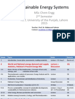 Sustainable Energy Systems 2015