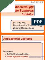 Antibacterial (II) Bacterial Protein Synthesis Inhibitors PR 3124